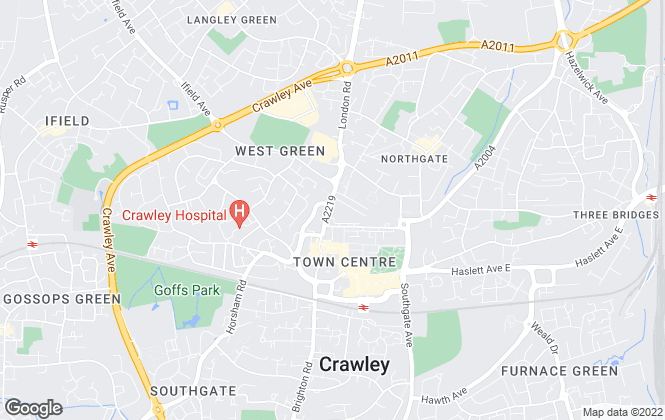 Map for Connect-UK, Crawley