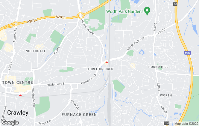 Map for New Move , Crawley