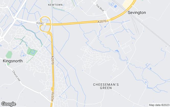Map for Crest Nicholson Eastern