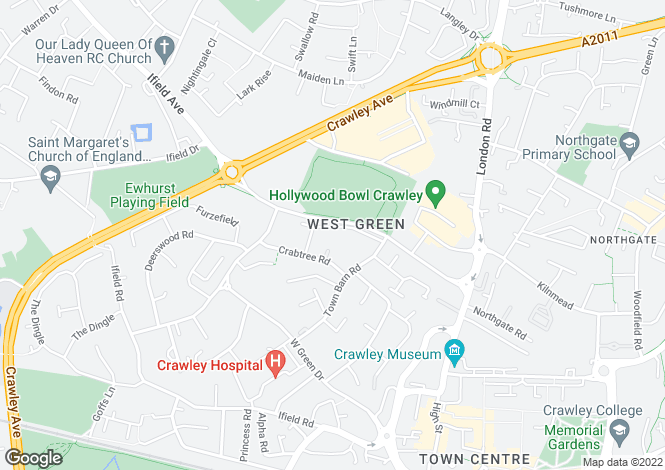 Map for Little Crabtree, Crawley, West Sussex