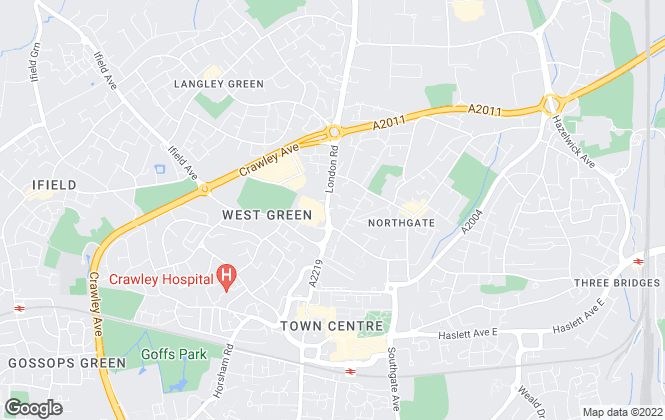 Map for Vail Williams, Crawley