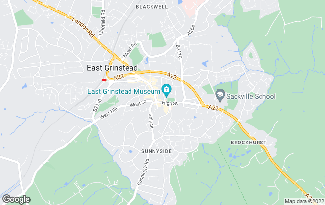 Map for Cole's Estate Agents, East Grinstead