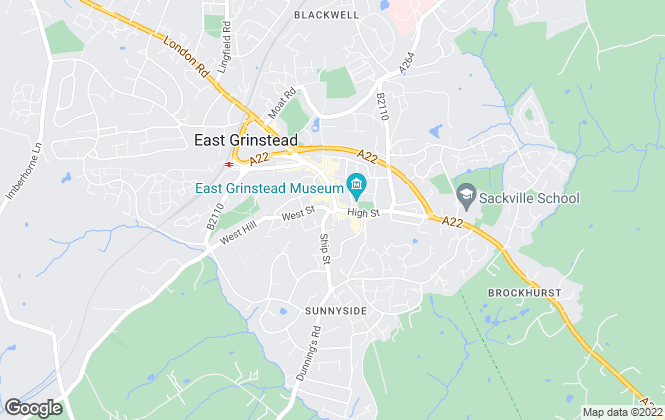 Map for Howard Cundey, East Grinstead