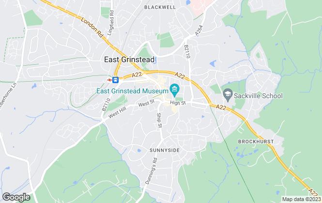 Map for Alexandre Boyes, East Grinstead