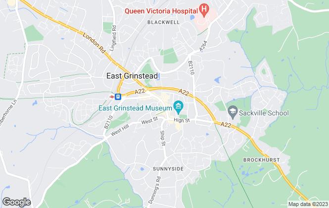 Map for Cubitt & West, East Grinstead