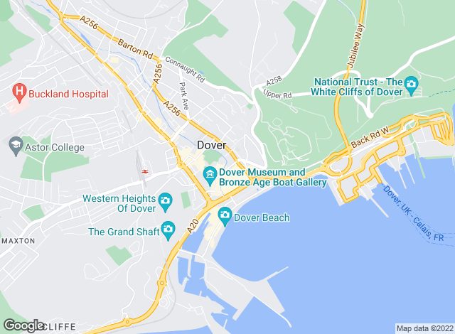 Map for Tersons, Dover