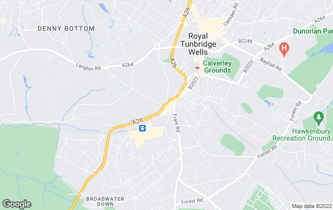 Map for Maddisons Residential Ltd, Tunbridge Wells
