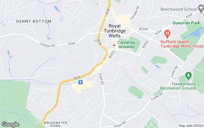 Map for Batcheller Monkhouse, Tunbridge Wells - Sales
