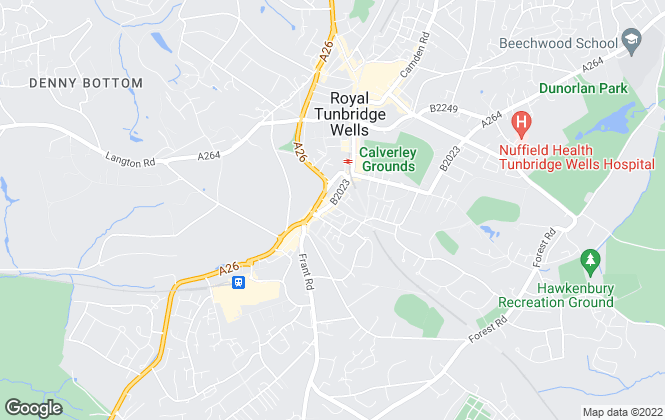 Map for Savills Lettings, Tunbridge Wells