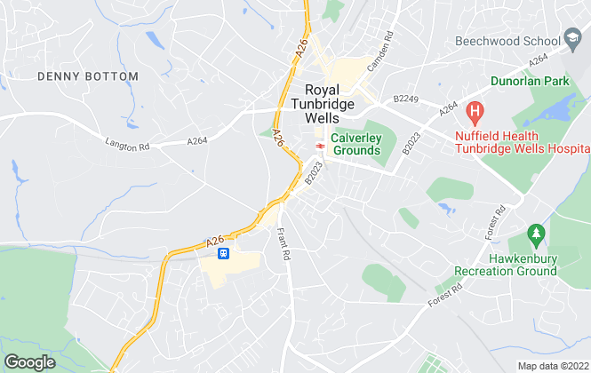 Map for Hamptons International Lettings, Tunbridge Wells Lettings