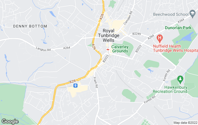 Map for Hamptons International Sales, Tunbridge Wells
