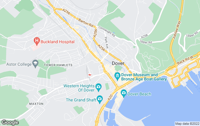 Map for Just Properties, Dover
