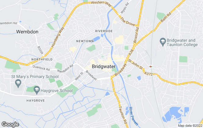 Map for C J Hole, Bridgwater