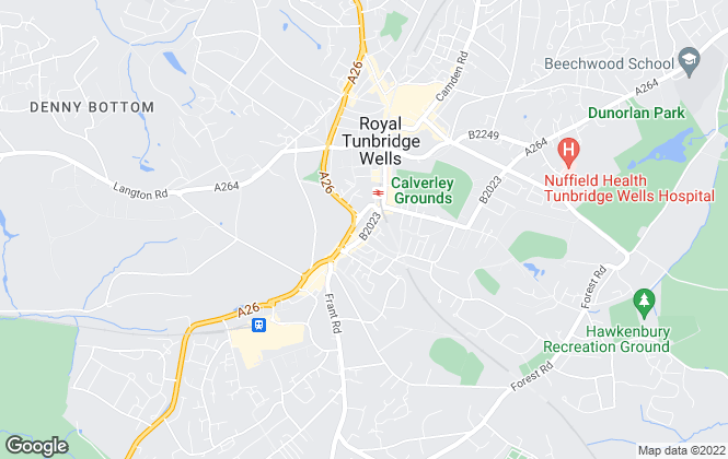 Map for Brooks Peacock, Tunbridge Wells