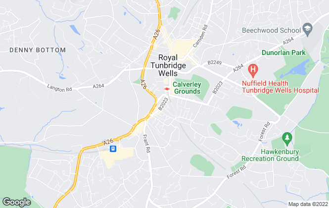 Map for Wood & Pilcher, Tunbridge Wells