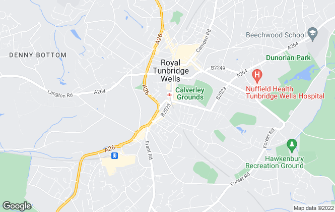 Map for Freeman Forman, Tunbridge Wells