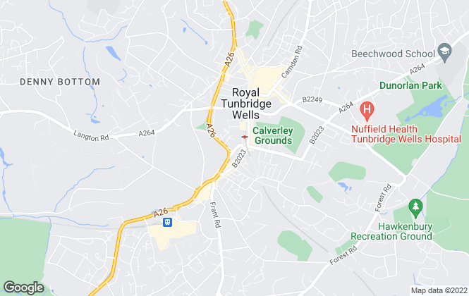 Map for Doorknobs Ltd, Tunbridge Wells