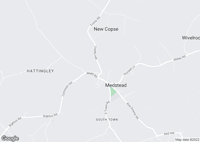 Map for Medstead, Near Alton, Hampshire