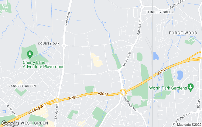 Map for FLEXSPACE, Crawley