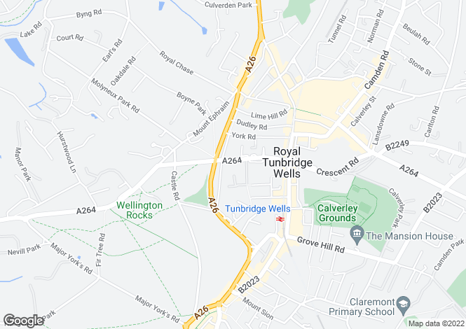 Map for Church Road, Tunbridge Wells, TN1, Kent
