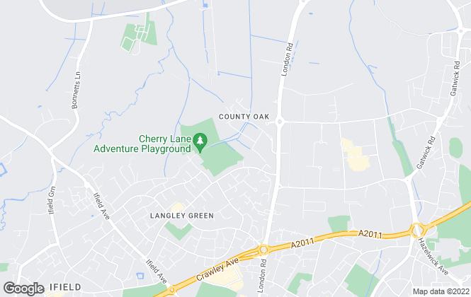 Map for Stanford Grey, Crawley