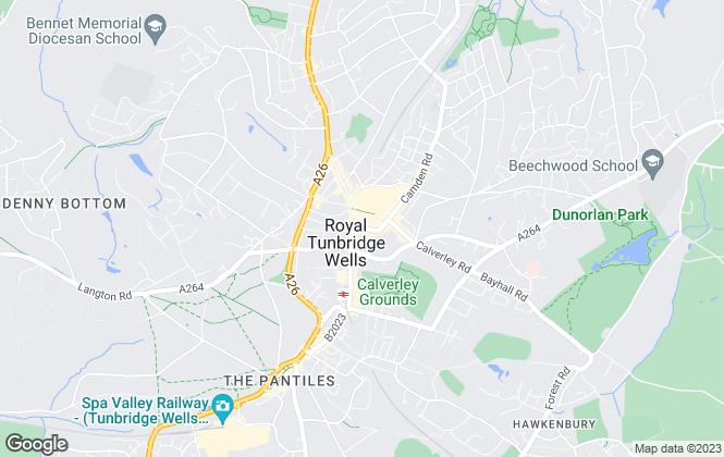 Map for TW Property, Tunbridge Wells - Lettings