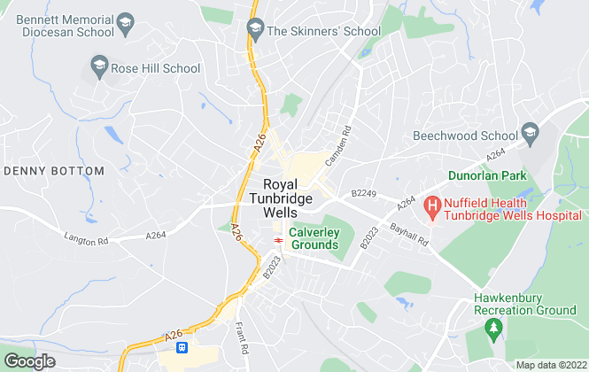 Map for TW Property, Tunbridge Wells - Lettings