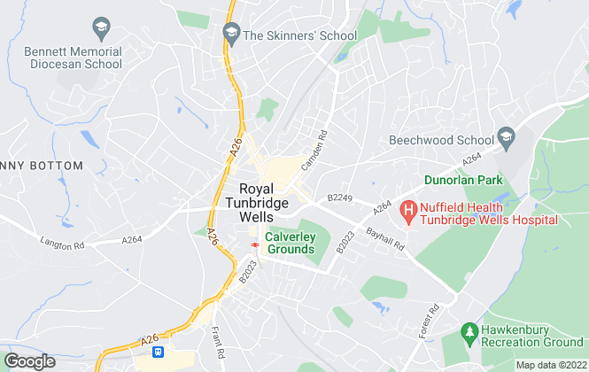 Map for Rotherby's, Tunbridge Wells