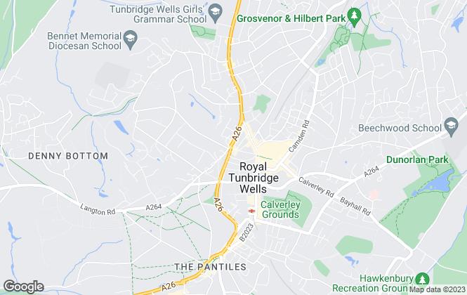 Map for Durlings, Tunbridge Wells