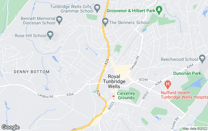 Map for McAuley Miller, Tunbridge Wells