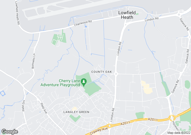 Map for COUNTY OAK WAY, CRAWLEY