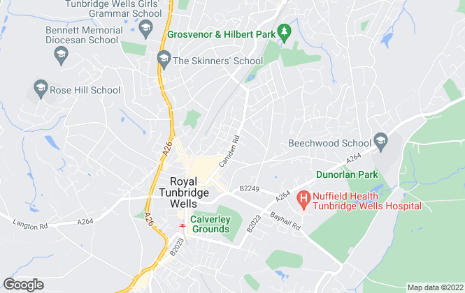 Map for Randalls Property Agents, Tunbridge Wells