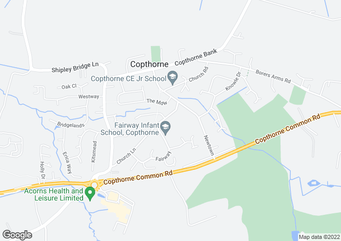 Map for Church Lane, Copthorne, Crawley