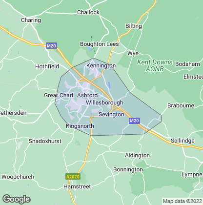 Map of property in Ashford