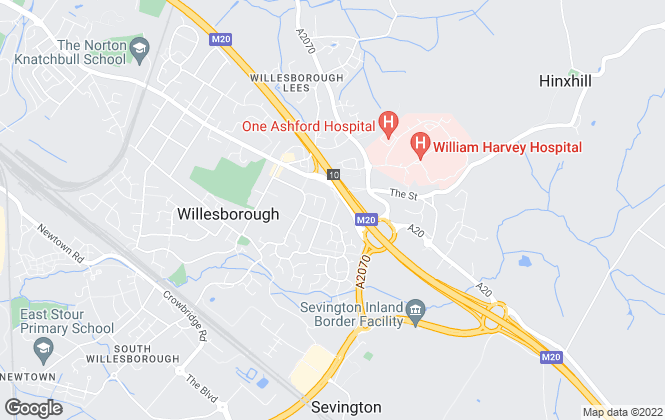 Map for Abel Estates and Lettings, Ashford