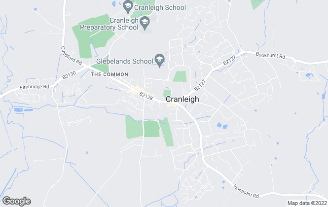 Map for Burns & Webber, Cranleigh