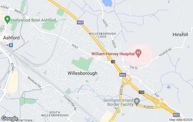 Map for Mann , Willesborough