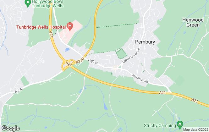 Map for Barnes Kingsnorth, Pembury
