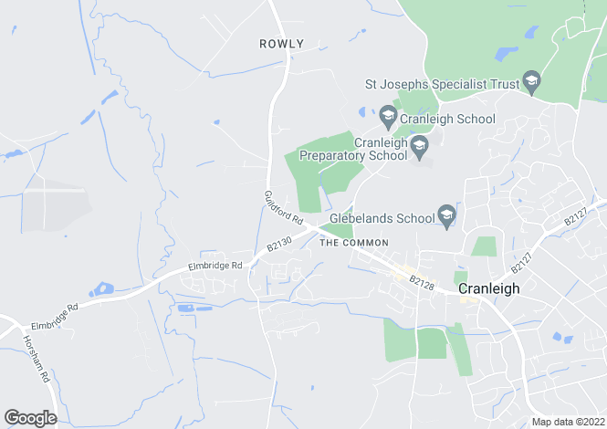 Map for The Common, Cranleigh, Surrey, GU6