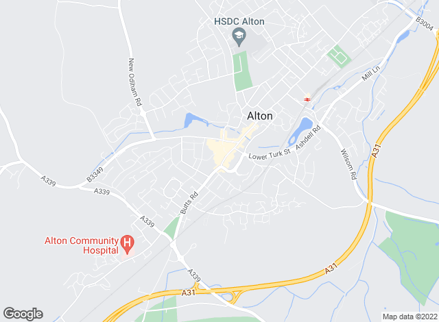 Map for Homes Estate Agents, Alton