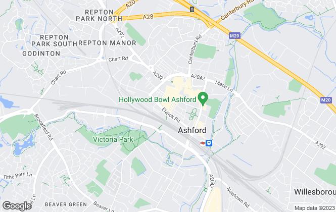Map for Ben Siggins Estate Agents, Ashford