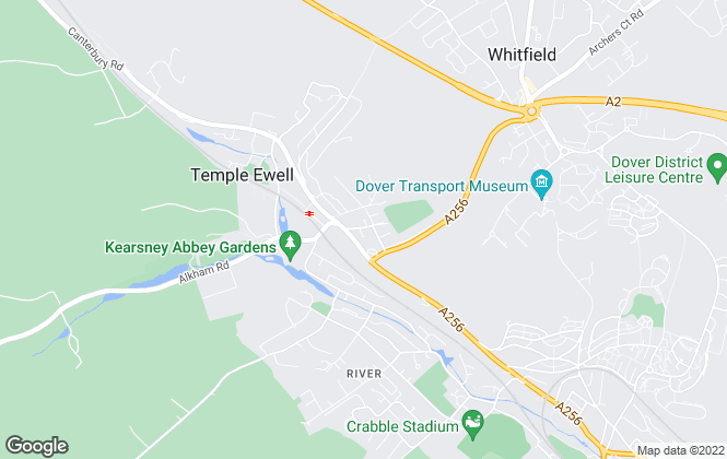 Map for Geering & Colyer, Dover, Kearsney