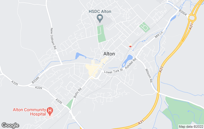 Map for Hamptons International Sales, Alton