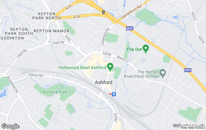 Map for Mann Lettings, Ashford