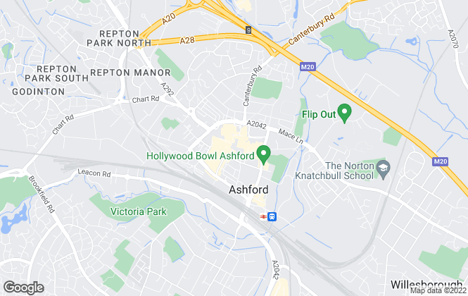 Map for Martins Estates, Ashford