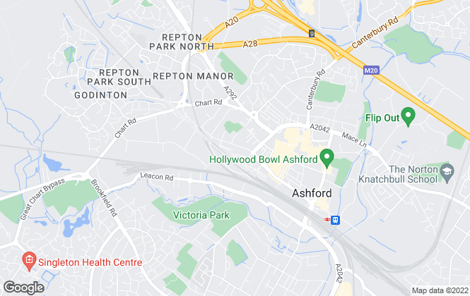 Map for Ashford Lettings, Ashford
