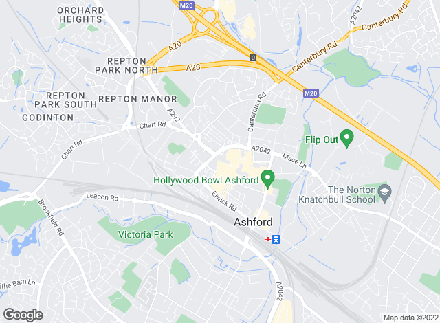 Map for Taylors Residential Lettings, Ashford