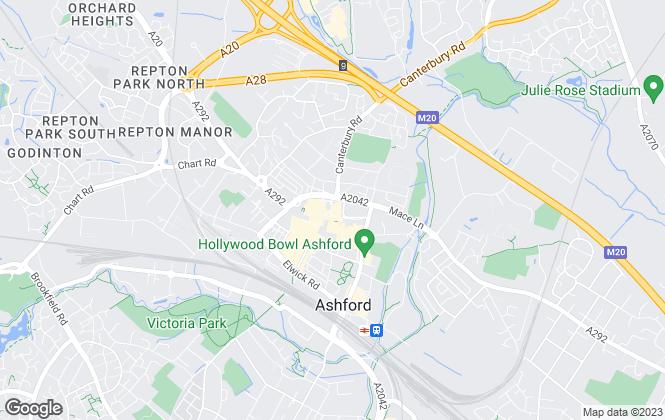 Map for Taylor Riley Stafford, Ashford