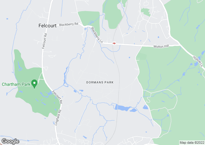 Map for Park Road, Dormans Park, East Grinstead, West Sussex, RH19