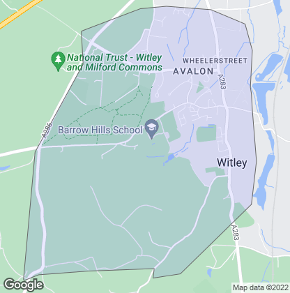 Map of property in Witley